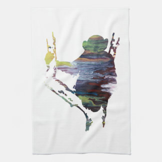 chimpanzee art kitchen towel