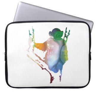 chimpanzee art laptop sleeve