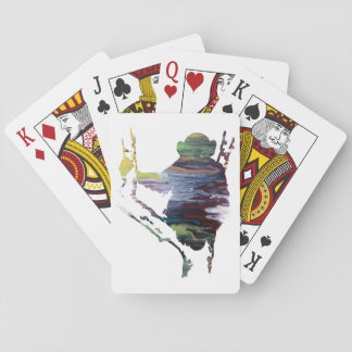chimpanzee art playing cards