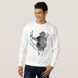 chimpanzee art sweatshirt