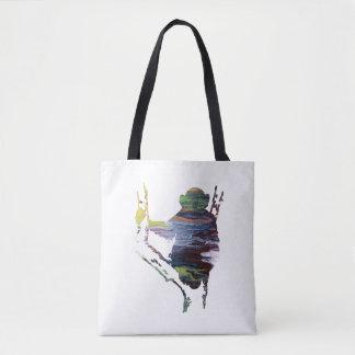 chimpanzee art tote bag