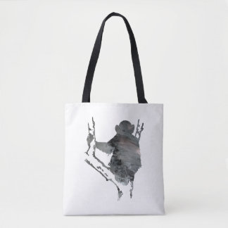 chimpanzee art tote bag