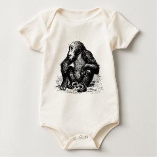 chimpanzee baby bodysuit