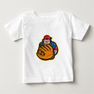 Chimpanzee Baseball Catcher Glove Retro Baby T-Shirt
