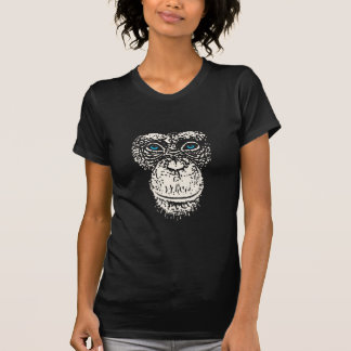 Chimpanzee Face with Blue Eyes Shirt