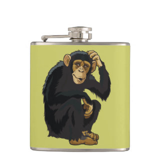 chimpanzee hip flask