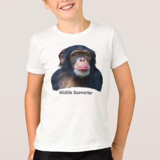 CHIMPANZEE II Wildlife Supporter  T-shirt