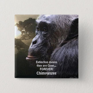 CHIMPANZEE III EXTINCTION Wildlife Button