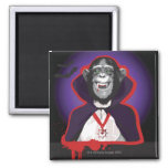 Chimpanzee in Dracula Costume Fridge Magnet