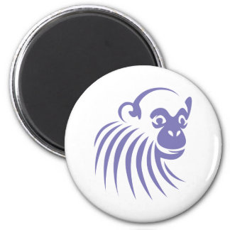 Chimpanzee in Swish Drawing Style 2 Inch Round Magnet