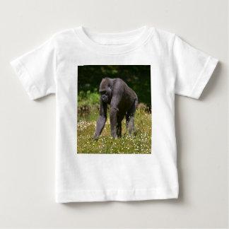 Chimpanzee in the flowering grass baby T-Shirt