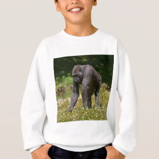 Chimpanzee in the flowering grass sweatshirt