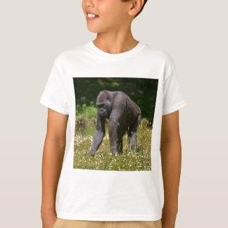 Chimpanzee in the flowering grass T-Shirt