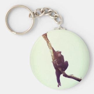 Chimpanzee in Tree Keychain