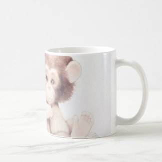 chimpanzee love classic white coffee mug