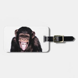 Chimpanzee Luggage Tag