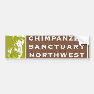 Chimpanzee Sanctuary NW Color Bumper Sticker