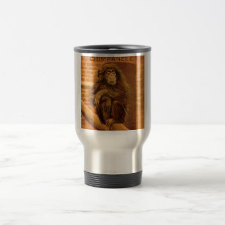 Chimpanzee Vintage Magic Lantern Slide 1890s Travel Mug