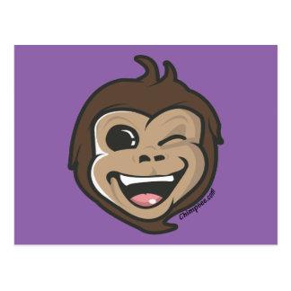 Chimpsee Face Postcard