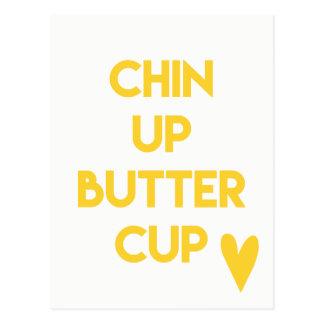 Chin up buttercup | Fun Motivational Postcard