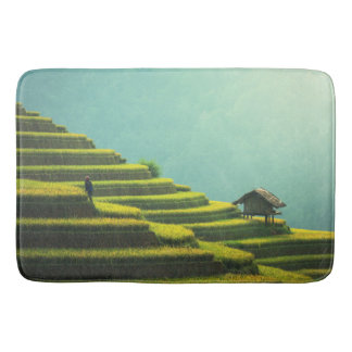 China agriculture rice harvest bath mat