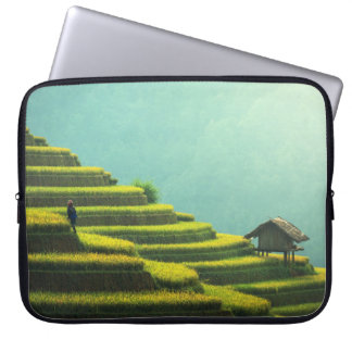 China agriculture rice harvest laptop sleeve