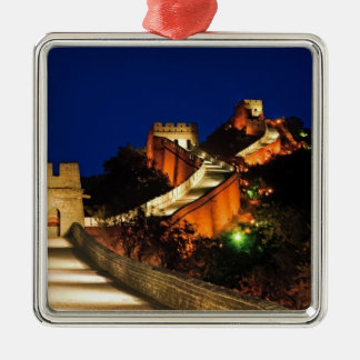 China, Badaling, Great Wall, view of Silver-Colored Square Ornament