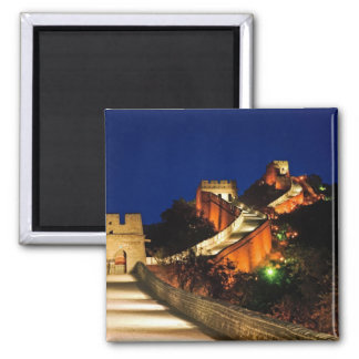China, Badaling, Great Wall, view of Square Magnet