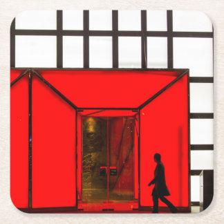 China, Beijing | Luxury Shopping Mall Square Paper Coaster