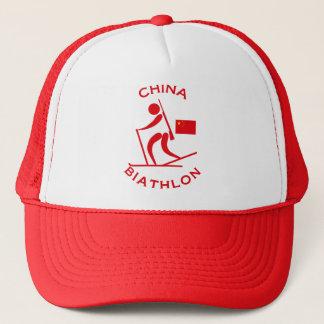 China Biathlon Trucker Hat
