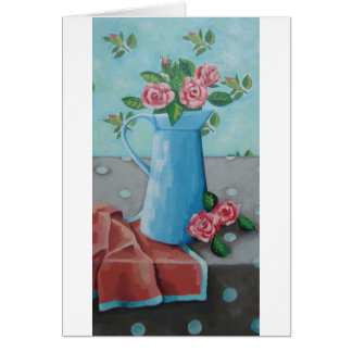 'China Blue Jug' Art Card
