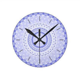 China Blue Mandala Kaleidoscope Clocks