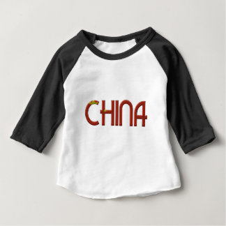 China Chinese Flag Colors Typography Baby T-Shirt