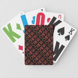 China Chinese Flag Colors Typography Bicycle Playing Cards