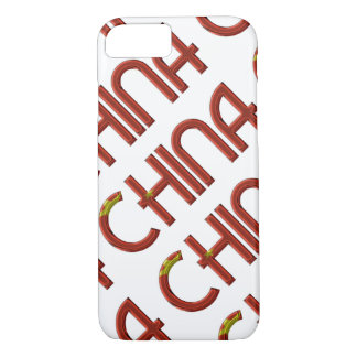 China Chinese Flag Colors Typography iPhone 8/7 Case