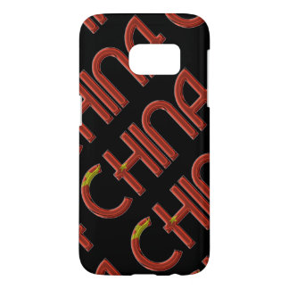 China Chinese Flag Colors Typography Samsung Galaxy S7 Case