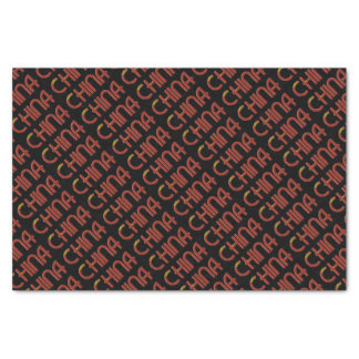 China Chinese Flag Colors Typography Tissue Paper