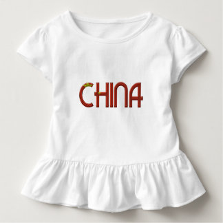 China Chinese Flag Colors Typography Toddler T-shirt
