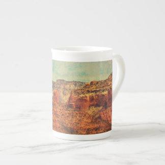 """China Coffee Tea Cup """"Sedona in Grunge"""""""