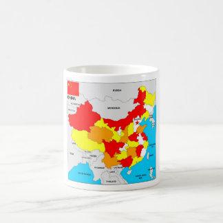 china country political map flag coffee mug