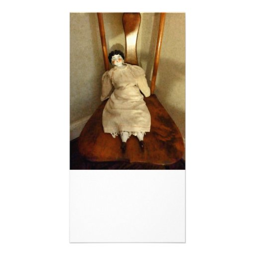 China Doll on Chair Photo Card
