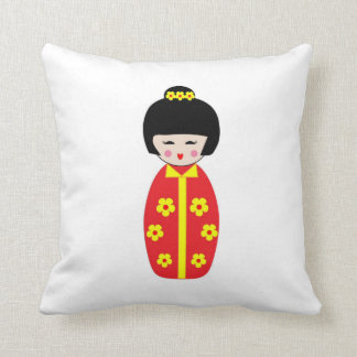 China Doll Throw Pillow