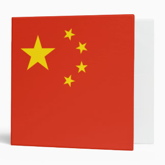 China Flag 3 Ring Binders
