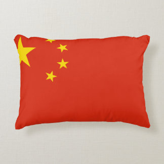 China Flag Accent Pillow