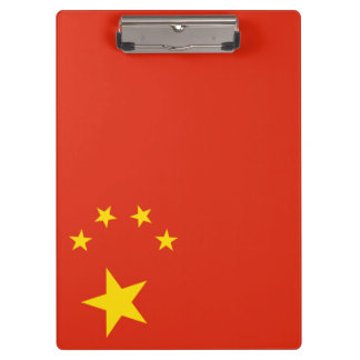 China Flag Clipboard