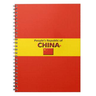 China Flag Colors Designer Modern Notebook
