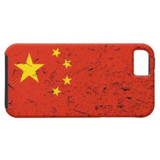 China Flag Distressed iPhone 5 Case  中国国旗iPhone5案例