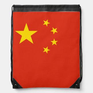 China Flag Drawstring Bag