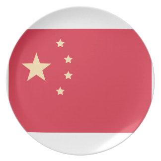 China Flag - Emoji Twitter Party Plates