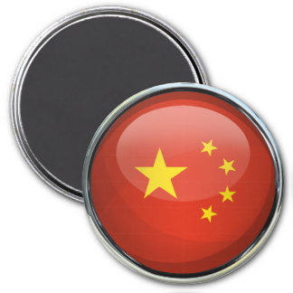 China Flag Glass Ball Magnet